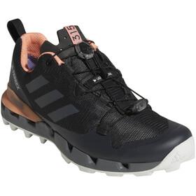 adidas TERREX Fast GTX-Surround Chaussures Femme, core black/grey five/chalk coral